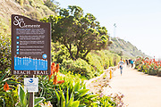 People Walking on the Beach Trail in San Clemente by North Beach