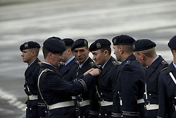 November 18, 2016 - Berlin, Germany - Officers inspect the uniforms of the guard of honour prior to the departure of US President Barack Obama at Tegel airport in Berlin, Germany on November 18, 2016. (Credit Image: © Emmanuele Contini/NurPhoto via ZUMA Press)