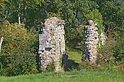 A ruin of an old chateau in the garden. - Chateau de la Tour (or Clos de La Tour), Bordeaux, now Pey la Tour
