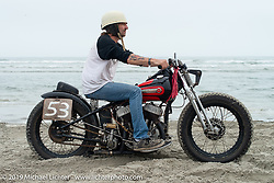 Rick Petko on his Harley-Davidson 45 inch Flathead racer at TROG (The Race Of Gentlemen). Wildwood, NJ. USA. Saturday June 9, 2018. Photography ©2018 Michael Lichter.