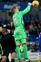 Football - 2016 / 2017 Sky Bet [EFL] Championship - Cardiff City vs. Brighton & Hove Albion<br /> <br /> Ben Amos of Cardiff City punches clear---, at Cardiff City Stadium.<br /> <br /> COLORSPORT/WINSTON BYNORTH