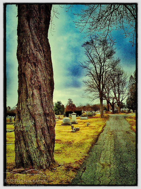 """South Street cemetery, Portsmouth, New Hampshire. iPhone photo - suitable for print reproduction up to 8"""" x 12""""."""