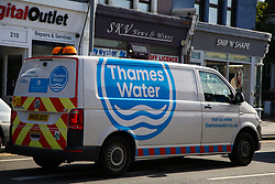 © Licensed to London News Pictures. 07/10/2020. London, UK. A Thames Water van in Leyton as homes in East London are still without water following a water main pipe burst in Hackney Marshes on Tuesday. Photo credit: Dinendra Haria/LNP