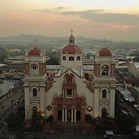 The Cathedral of San Pedro Sula, San Pedro Apostol. Image taken with drone.
