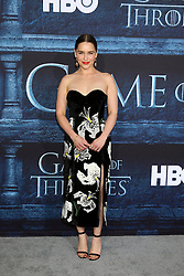 Emilia Clarke at the Game of Thrones Season 6 Premiere Screening at the TCL Chinese Theater IMAX on April 10, 2016 in Los Angeles, CA. EXPA Pictures © 2016, PhotoCredit: EXPA/ Photoshot/ Kerry Wayne<br /> <br /> *****ATTENTION - for AUT, SLO, CRO, SRB, BIH, MAZ, SUI only*****