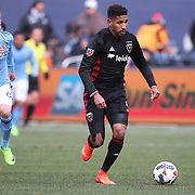 NEW YORK, NEW YORK - March 12:  Sean Franklin #5 of D.C. United in action during the NYCFC Vs D.C. United regular season MLS game at Yankee Stadium on March 12, 2017 in New York City. (Photo by Tim Clayton/Corbis via Getty Images)