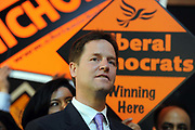 Leader of the Liberal Democrats Nick Clegg campaigns  in South London.
