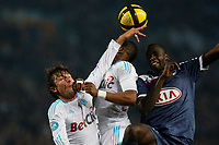 FOOTBALL - FRENCH CHAMPIONSHIP 2010/2011 - L1 - OLYMPIQUE MARSEILLE v GIRONDINS BORDEAUX - 16/01/2011 - PHOTO PHILIPPE LAURENSON / DPPI - GABRIEL HEINZE (OM)