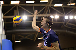 20150613 NED: World League Nederland - Finland, Almere<br /> De Nederlandse volleyballers hebben hun vierde zege in vijf World League-duels geboekt. Zes dagen na de pijnlijke 0-3 tegen België, werd in Almere Finland met 3-0 (25-20, 25-14, 25-18) verslagen / Ewoud Gommans