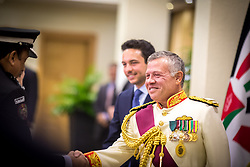 Jordan's King Abdullah II and his son Crown Prince Hussein seen after a speech for the inauguration or the third ordinary session of the 18th Parliament, in Amman, Jordan, on October 14, 2018. Photo by Balkis Press/ABACAPRESS.COM