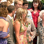 NLD/Groningen/20070609 - Huwelijk Arjen Robben en Bernadien Eillert, oma en familie..Wedding of the dutch Chelsea soccer player Arjen Robben with his girlfriend Bernadien Eillert along with family and friends