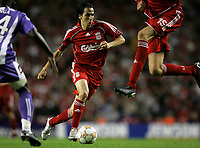 Photo: Paul Thomas.<br /> Liverpool v Toulouse. UEFA Champions League Qualifying. 28/08/2007.<br /> <br /> Yossi Benayoun of Liverpool.