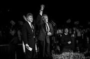 Bill Clinton as Governor of Arkansas and US Presidential Candidate during the Presidential Election Campaign October 1992. Scans made in 2017.<br /> Seen here: Clinton with Harry Belafonte at an evening rally in Wilmington, North Carolina.<br /> Photographs on the road on the 1992 Presidential Election campaign trail from Philadelphia and down the eastern states to Atlanta in Georgia. Clinton went on to become the 42nd President of the United States serving two terms from 1993 to 2001.