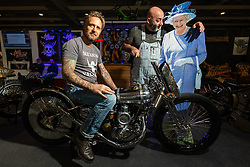 PDF Motociclette's Stefano Martinelli and Frenky Davide Francavilla of Bergamo, Italy with the Queen at Motor Bike Expo (MBE) bike show. Verona, Italy. Thursday, January 16, 2020. Photography ©2020 Michael Lichter.