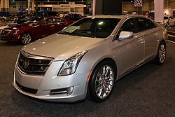 CHARLOTTE, NORTH CAROLINA - NOVEMBER 20, 2014: Cadillac XTS sedan on display during the 2014 Charlotte International Auto Show at the Charlotte Convention Center.