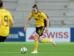 October 9, 2018 - Biel, SWITZERLAND - Belgium's Tine De Caigny pictured in action during a soccer game between Switzerland and Belgium's national team the Red Flames, Tuesday 09 October 2018, in Biel, Switzerland, the return leg of the play-offs qualification games for the women's 2019 World Cup. BELGA PHOTO DAVID CATRY (Credit Image: © David Catry/Belga via ZUMA Press)