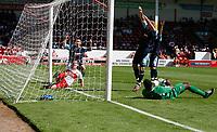Photo: Steve Bond.<br />Walsall v Swansea City. Coca Cola League 1. 25/08/2007. Does Jason Scotland's shot cross the line