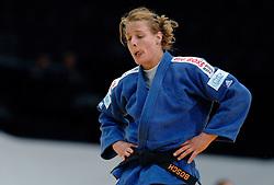 28-05-2006 JUDO: EUROPEES KAMPIOENSCHAP: TAMPERE FINLAND<br /> Regerend Europees- en wereldkampioene Edith Bosch is op het EK judo niet verder gekomen dan een vijfde plaats - aa drink <br /> ©2006-WWW.FOTOHOOGENDOORN.NL