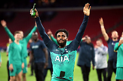 Tottenham Hotspur's Danny Rose celebrates after the final whistle during the UEFA Champions League Semi Final, second leg match at Johan Cruijff ArenA, Amsterdam.
