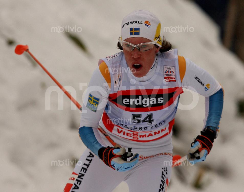 Sapporo , 270207 , Nordische Ski Weltmeisterschaft  Frauen 10km Freistil ,  Lina ANDERSSON (SWE)