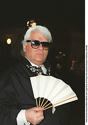 Photo Nicolas Khayat/ABACAPRESS. Karl Lagerfeld arriving at the Laureus Awards in Monaco, 24/5/00.