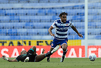 Reading's Liam Moore (right) is tackled by Swansea City's Andre Ayew (left) <br /> <br /> Photographer David Horton/CameraSport<br /> <br /> The EFL Sky Bet Championship - Reading v Swansea City - Wednesday July 22nd 2020 - Madejski Stadium - Reading <br /> <br /> World Copyright © 2020 CameraSport. All rights reserved. 43 Linden Ave. Countesthorpe. Leicester. England. LE8 5PG - Tel: +44 (0) 116 277 4147 - admin@camerasport.com - www.camerasport.com