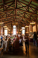 The dining room in the Ahwahnee Lodge in Yosemite National Park.
