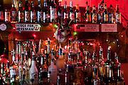 Bar of Ajax Diner, complete with Jackalope, Oxford, Mississippi.