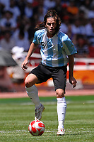 Fernando Gago of Argentina during the Olympic Games final. Argentina beats Nigeria 1-0 and won the gold medal <br /> National Indoor - Bird Nest - Football - Calcio<br /> Pechino - Beijing 23/8/2008 Olimpiadi 2008 Olympic Games<br /> Foto Andrea Staccioli Insidefoto