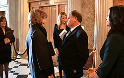 January 3, 2018 - Washington, DC - District of Columbia, USA - United States - Tina Smith met Doug Jones Wednesday morning at the U.S. Capitol as they both prepared for the swearing-in      ] GLEN STUBBE • glen.stubbe@startribune.com Wednesday, January  3, 2018  Tina Smith is sworn in as Minnesota's junior U.S. senator, replacing Al Franken the day after he resigns. (Credit Image: © Glen Stubbe/Minneapolis Star Tribune via ZUMA Wire)