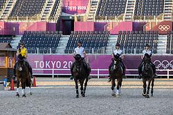 Team Belgium, Roos Laurence, Michiels Domien, Pauluis Larissa, Fairchild Alexa<br /> Olympic Games Tokyo 2021<br /> © Hippo Foto - Dirk Caremans<br /> 18/07/2021