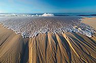 Wave, Sand Striations, New York, Quogue