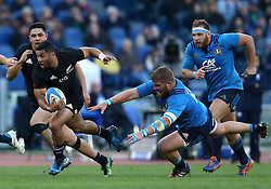 November 12, 2016 - Rome, Italy - Lima Sopoaga of the New Zealand All Blacks during the international rugby match between New Zealand and Italy at Stadio Olimpico on November 12, 2016 in Rome, Italy. (Credit Image: © Arts Culture And Entertainment/NurPhoto via ZUMA Press)