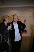 Louisa Buck and Gavin Turk, Other,Riyas Komu and Peter Drake. - VIP  launch of Aicon. London's largest contemporary Indian art gallery. Heddon st. and afterwards at Momo.15 Marc h 2007.  -DO NOT ARCHIVE-© Copyright Photograph by Dafydd Jones. 248 Clapham Rd. London SW9 0PZ. Tel 0207 820 0771. www.dafjones.com.