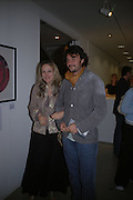 Bay Garnet and Tom Craig. Silent auction reception in aid of the Aids charity  Clothesline.  The Hospital. London. 19  September 2005. ONE TIME USE ONLY - DO NOT ARCHIVE © Copyright Photograph by Dafydd Jones 66 Stockwell Park Rd. London SW9 0DA Tel 020 7733 0108 www.dafjones.com