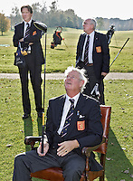 TILBURG - Captain Franklin Chabot van het Nederlands Team Senioren, dat op het ELTK in Portugal  als tweede eindigde. Het team bestaat uit Bart Nolte, Rolf Esser, Guus Roels, Pem van Heek, Jart Sluiter en Henk Jansen, met captain Franklin Chabot (foto) en trainer Hans Berkhout .FOTO KOEN SUYK