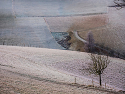 Winter morning in the valley of Yach