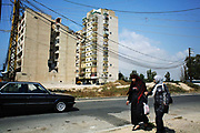 A tower block bombed by Israel in the Summer War of 2006, killing scores of people including many children hiding in the basement.
