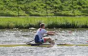 Amsterdam. NETHERLANDS.   CZE M1X, Ondrej SYNEK, Gold Medalist Men's Single scull.  De Bosbaan Rowing Course, venue for the 2014 FISA  World Rowing. Championships. 14:09:25  Sunday  31/08/2014.  [Mandatory Credit; Peter Spurrier/Intersport-images]