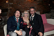 JONATHAN ROSS; MORWENNA BANKS; DAVID BADDIEL, InStyle's Best Of British Talent Party in association with Lancome. Shoreditch HouseLondon. 25 January 2011, -DO NOT ARCHIVE-© Copyright Photograph by Dafydd Jones. 248 Clapham Rd. London SW9 0PZ. Tel 0207 820 0771. www.dafjones.com.