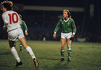 Sammy McIlroy, footballer, Manchester City FC & N Ireland, 19860308SMI.<br /> <br /> Copyright Image from Victor Patterson, Belfast, UK<br /> <br /> t: +44 28 9066 1296 (from Rep of Ireland 048 9066 1296)<br /> m: +44 7802 353836<br /> e: victorpattersonbelfast@gmail.com<br /> <br /> www.images4media.com<br /> <br /> Please see my full Terms and Conditions of Use at https://www.images4media.com/p/terms-conditions - it is IMPORTANT that you familiarise yourself with them.<br /> <br /> Images used online incur an additional cost. This cost should be agreed in writing in advance. Online images must be visibly watermarked i.e. © Victor Patterson or that of the named photographer within the body of the image. The original metadata must not be deleted from images used online.<br /> <br /> This image is only available for the use of the download recipient i.e. television station, newspaper, magazine, book publisher, etc, and must not be passed on to a third party. It is also downloaded on condition that each and every usage is notified within 7 days to victorpattersonbelfast@gmail.com.<br /> <br /> The right of Victor Patterson (or the named photographer) to be identified as the author is asserted in accordance with The Copyright Designs And Patents Act (1988). All moral rights are asserted.