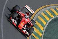 RAIKKONEN kimi (fin) ferrari sf15t action during 2015 Formula 1 championship at Melbourne, Australia Grand Prix, from March 13th to 15th. Photo DPPI / Eric Vargiolu.