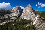 Nevada Fall, Half Dome and Liberty Cap, Yosemite National Park, California
