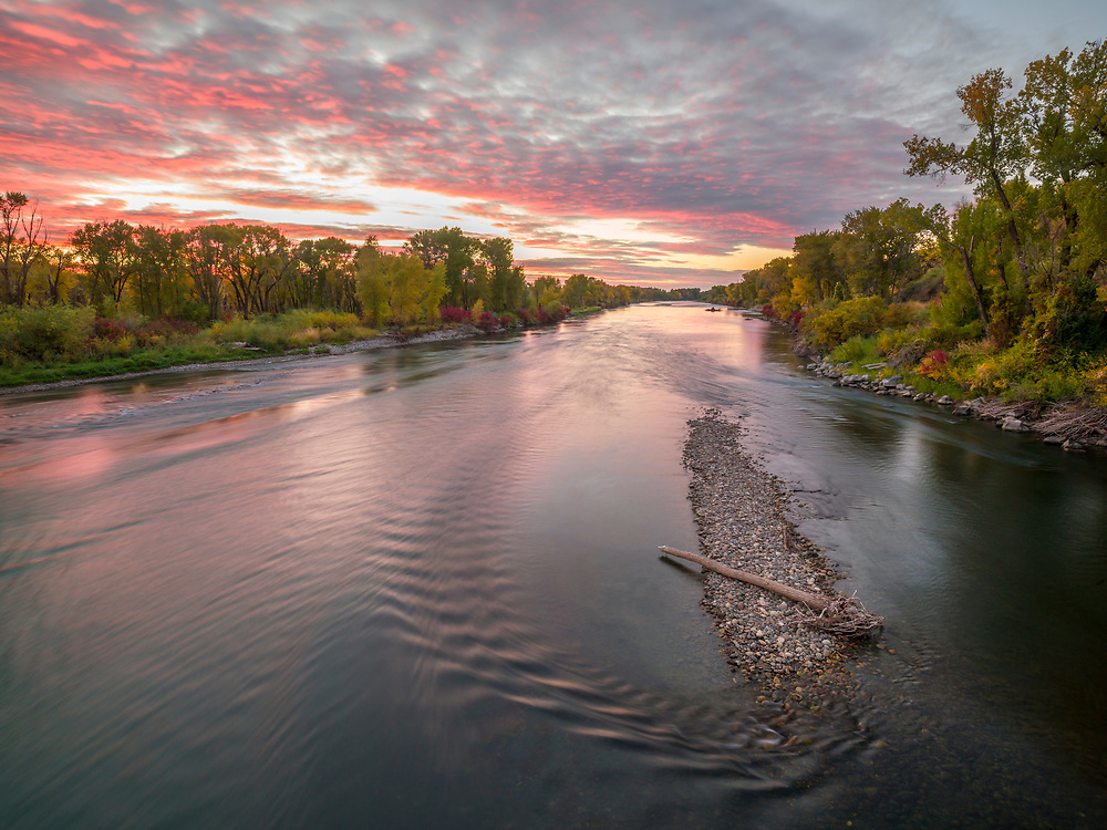 Limited Edition Print of 17<br /> Evening Serenity on the South Fork of the Snake River near Heise Hot Springs in Eastern Idaho
