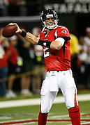 ATLANTA - AUGUST 29:  Quarterback Matt Ryan #2 of the Atlanta Falcons drops back to pass during pre-game warmups before the game against the San Diego Chargers at the Georgia Dome on August 29, 2009 in Atlanta, Georgia.  The Falcons beat the Chargers 27-24.  (Photo by Mike Zarrilli/Getty Images)