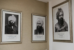 February 6, 2018 - Haifa, Israel - Portraits of the Ahmadiyya Muslim Community's founders and Khilafat. The Ahmadiyya Muslim Community is estimated to be 1% of the Muslim community worldwide, a dynamic, fast growing international revival movement within Islam. Founded in 1889 in Punjab, British India, it spans over 200 countries with membership exceeding millions. Current headquarters are in the UK. The community sprung roots in Israel in 1924 building a mosque there in 1931. Some 2,200 adherents live in Israel, the West Bank and the Gaza Strip, the vast majority of them in the Kababir neighborhood of Haifa. (Credit Image: © Nir Alon via ZUMA Wire)