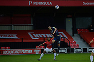 Anthony O'Connor during the EFL Sky Bet League 2 match between Salford City and Bradford City at the Peninsula Stadium, Salford, United Kingdom on 21 November 2020.