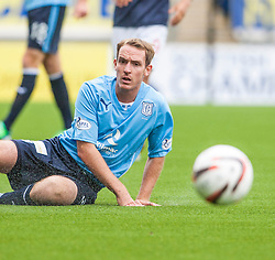 Dundee's Gary Irvine.<br /> Falkirk 3 v 1 Dundee, 21/9/2013.<br /> ©Michael Schofield.