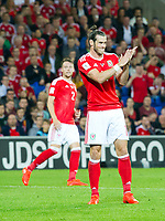 Football - 2018 World Cup - Qualifying 2016 / 2017 - Group D: Wales vs Moldova<br /> <br />  Gareth Bale applauds    …  at the Cardiff City Stadium<br /> <br /> pic colorsport/winston bynorth
