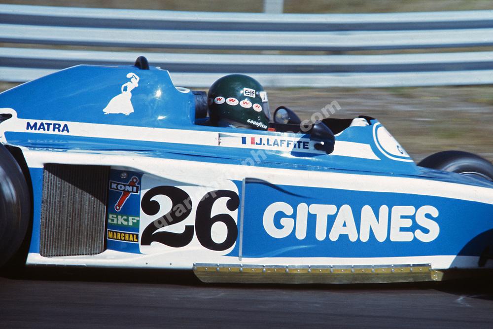 Jacques Laffite (Ligier-Matra) during the 1976 Dutch Grand Prix in Zandvoort. Photo: Grand Prix Photo